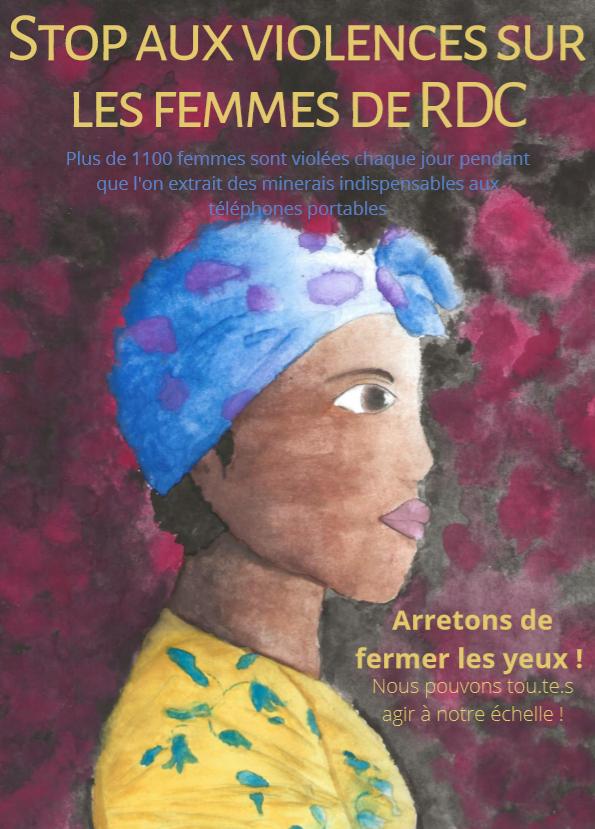 Stop aux violences sur les femmes de RDC – Affiche Par Jean-Eudes, 16 ans.
